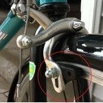 Brake pad contact