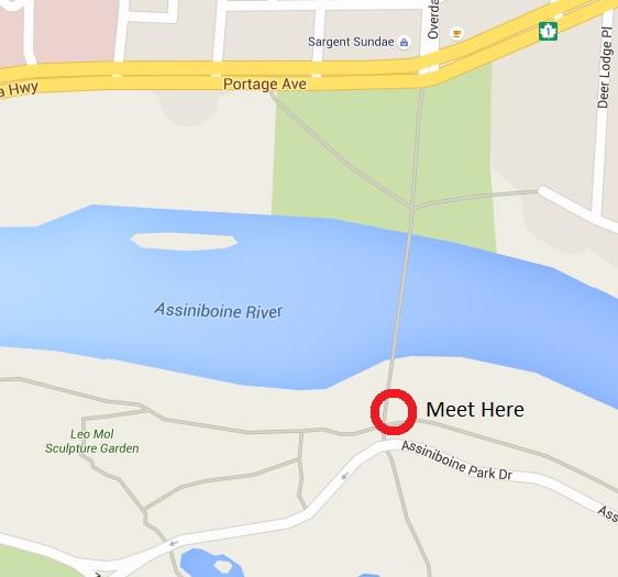 Map for Assiniboine park ride