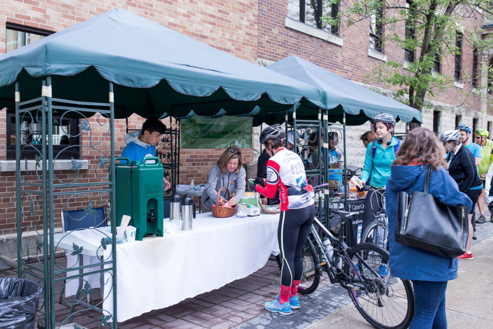 1efdc02aeb Pit Stops are open from 6:30-9:00am on Bike to Work Day, Monday, June 18th.  They are located all over the city and provide a place for people to stop  and ...